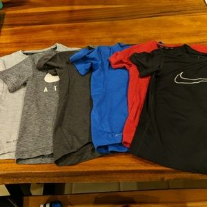 Six Nike Elite t-shirts, size S